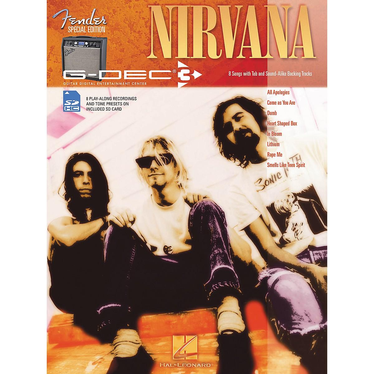Hal Leonard Fender G-Dec Nirvana Guitar Play-Along Songbook/SD Card