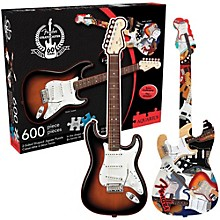 Hal Leonard Fender Guitar Shape - 600 Piece Two Sided Jigsaw Puzzle