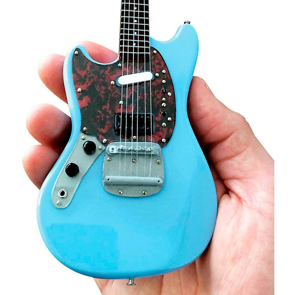 Axe Heaven Fender Mustang Sonic Blue Miniature Guitar Replica Collectible