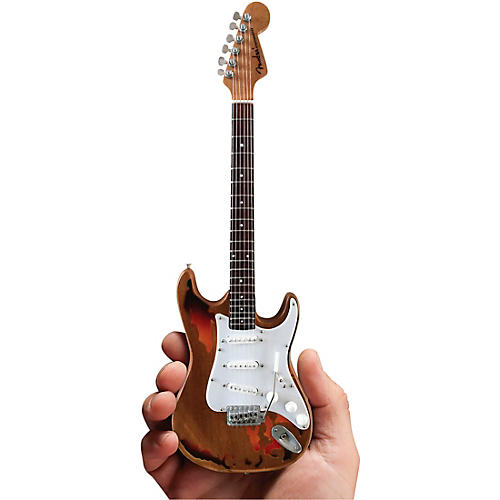 Axe Heaven Fender Stratocaster - Aged Sunburst Distressed Finish Officially Licensed Miniature Guitar Replica