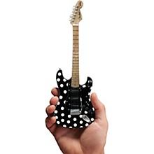 Axe Heaven Fender Stratocaster -  Black - Polka Dots Officially Licensed Miniature Guitar Replica