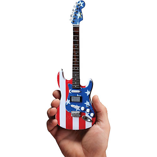 Axe Heaven Fender Stratocaster - Stars & Stripes USA - Wayne Kramer Officially Licensed Miniature Guitar Replica