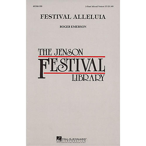 Hal Leonard Festival Alleluia 3-Part Mixed composed by Roger Emerson