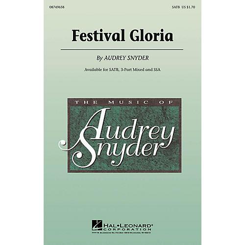 Hal Leonard Festival Gloria SATB composed by Audrey Snyder