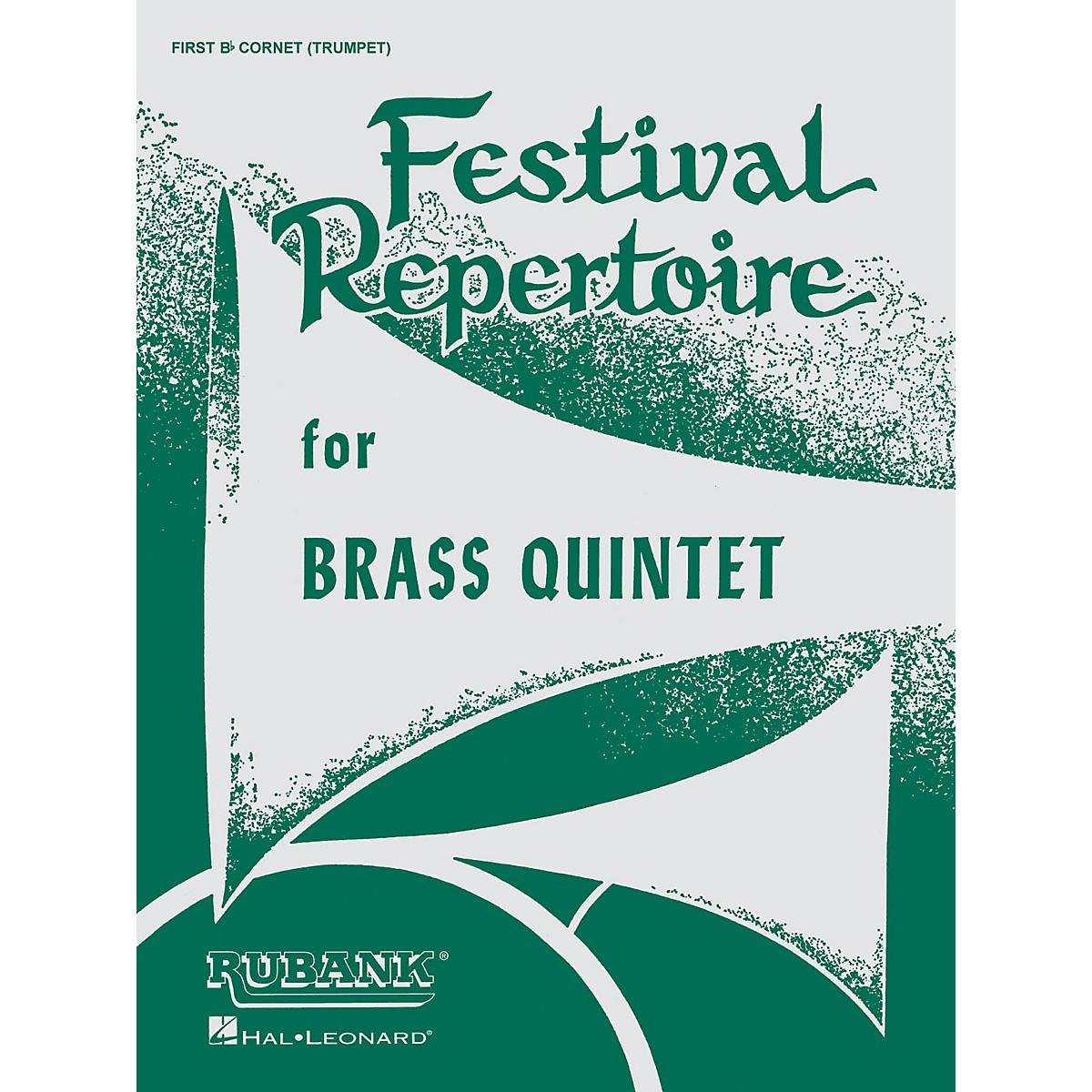 Rubank Publications Festival Repertoire for Brass Quintet (5th Part - Bass/Tuba (B.C.)) Ensemble Collection Series