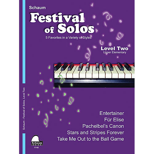 SCHAUM Festival of Solos (Level 2 Upper Elem Level) Educational Piano Book by Various