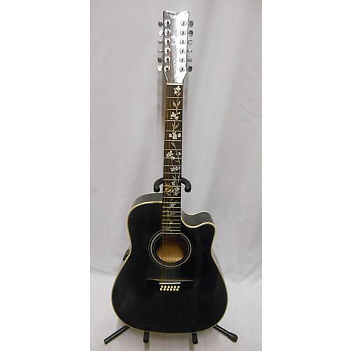 used yamaha fg411c 12 string acoustic electric guitar black guitar center. Black Bedroom Furniture Sets. Home Design Ideas