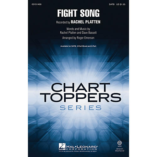 Hal Leonard Fight Song ShowTrax CD by Rachel Platten Arranged by Roger Emerson