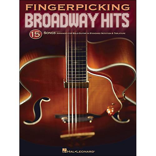 Hal Leonard Fingerpicking Broadway Hits - 15 Songs Arr. for Solo Guitar In Standard Notation & Tab