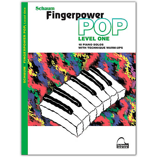 SCHAUM Fingerpower Pop - Level 1 10 Piano Solos with Technique Warm-Ups