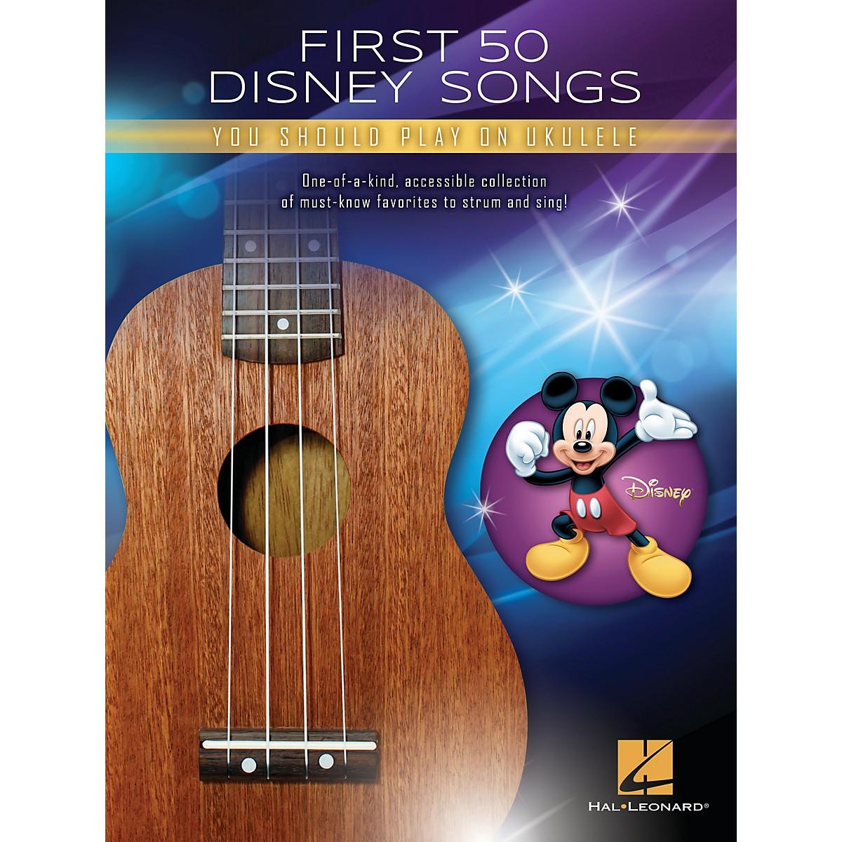 Hal Leonard First 50 Disney Songs You Should Play on Ukulele