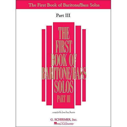 G. Schirmer First Book Of Baritone / Bass Solos Part III Book Only