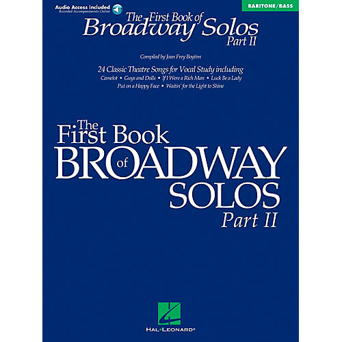 Hal Leonard First Book Of Broadway Solos Part II Baritone / Bass Book/CD