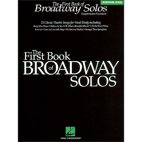 Hal Leonard First Book Of Broadway for Baritone Voice