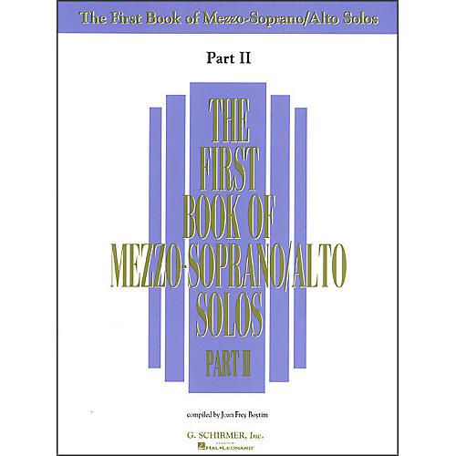 G. Schirmer First Book Of Mezzo-Soprano / Alto Solos Part 2