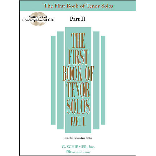 G. Schirmer First Book Of Tenor Solos Part 2 Book/2CD Pkg