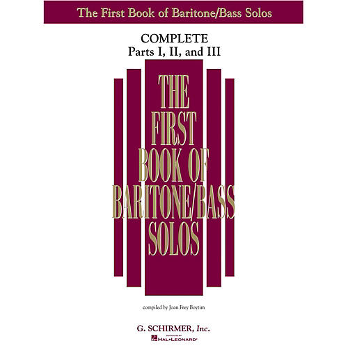 Hal Leonard First Book of Baritone/Bass Solos Complete - Parts 1, 2 & 3 By Joan Boytim