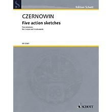Schott Five Action Sketches (for 2 Voices and Ensemble (Score and Parts)) Ensemble Series Book