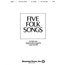 Shawnee Press Five Folk Songs High Voice