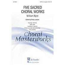 De Haske Music Five Sacred Choral Works (Collection) SATB DV A Cappella composed by William Byrd