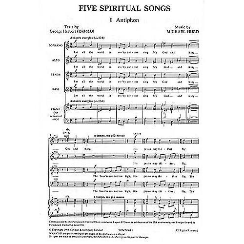 Novello Five Spiritual Songs SATB Composed by Michael Hurd