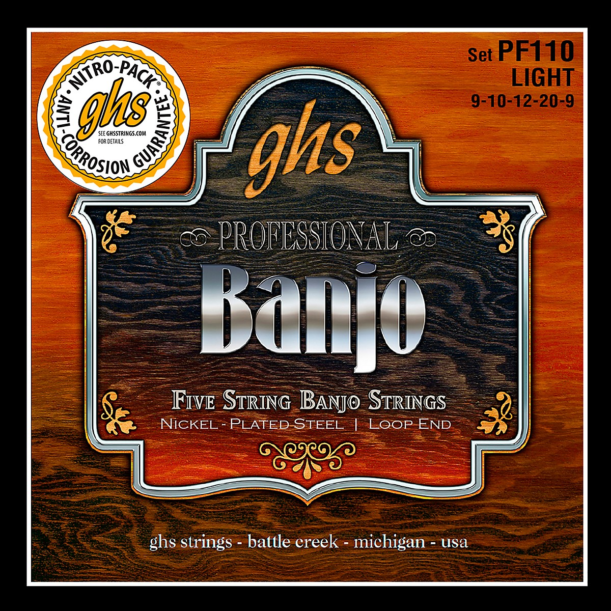GHS Five String Banjo Light Strings