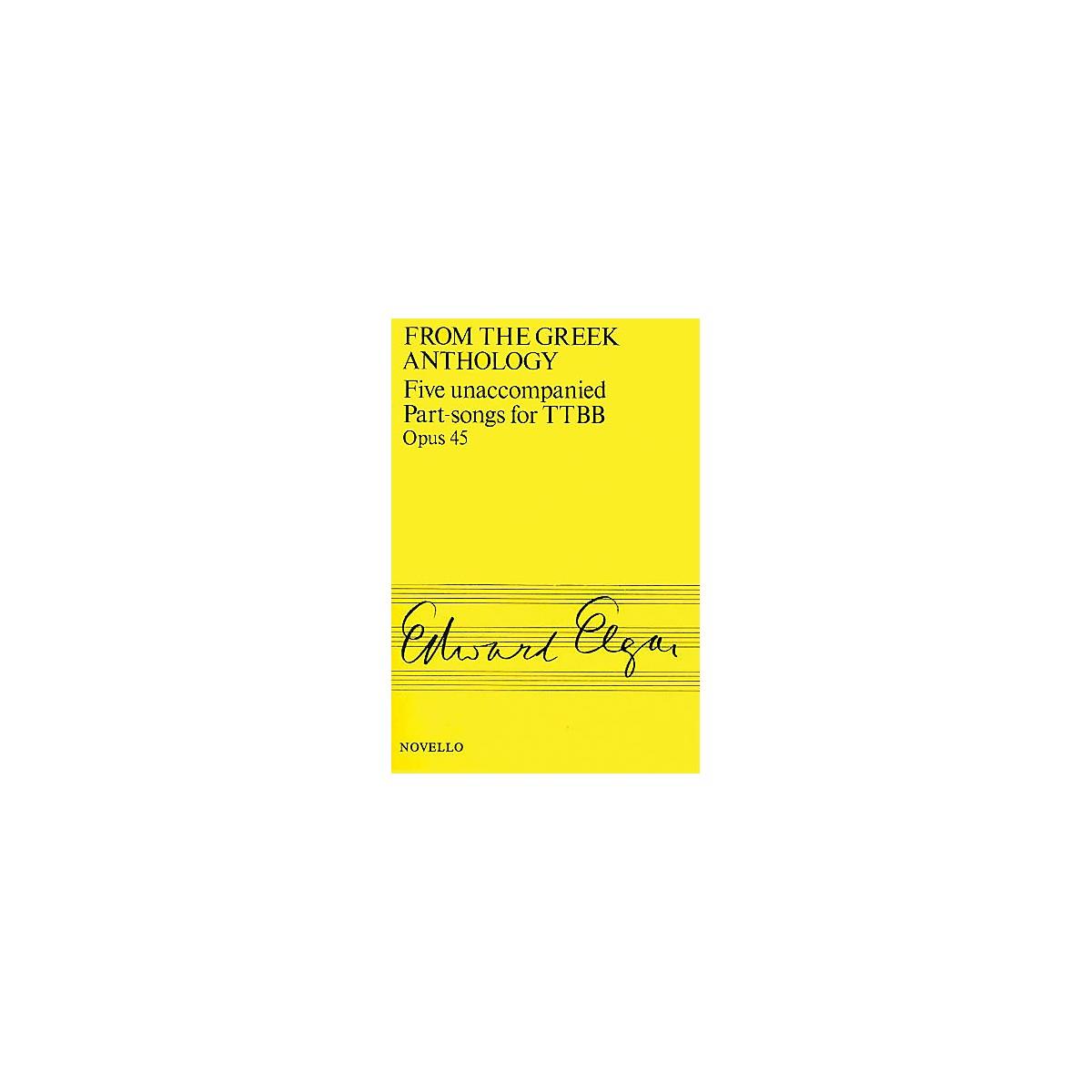 Novello Five Unaccompanied Part-Songs for TTBB - Op. 45 TTBB A Cappella Composed by Edward Elgar