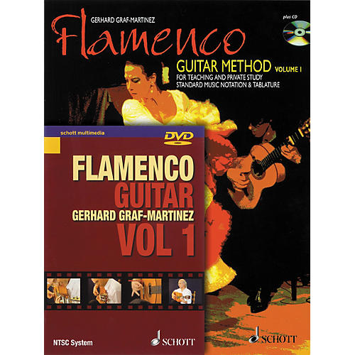 Schott Flamenco Guitar Method Volume 1 Book with CD and DVD