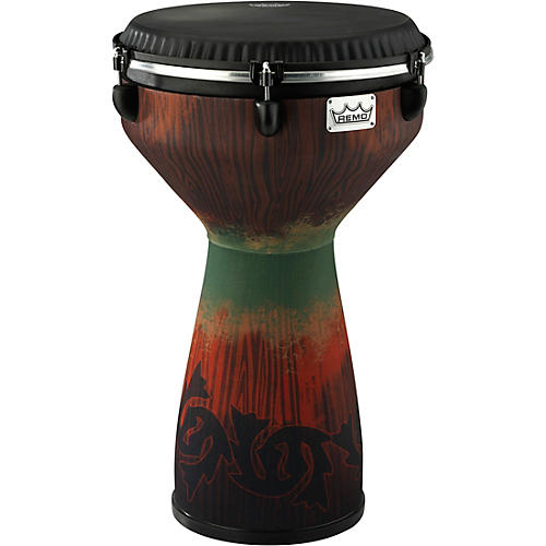 Remo Flareout Djembe Drum, Savannah Red, 13