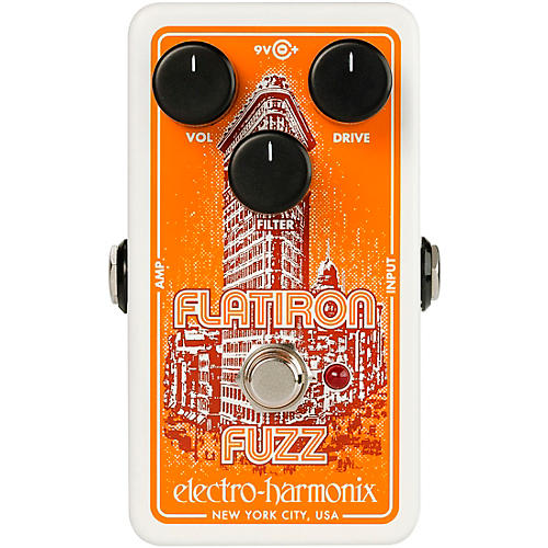 Electro-Harmonix Flatiron Fuzz Op-Amp Powered Fuzz/Distortion Effects Pedal