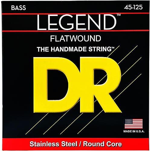 DR Strings Flatwound Legend 5-String Bass Medium