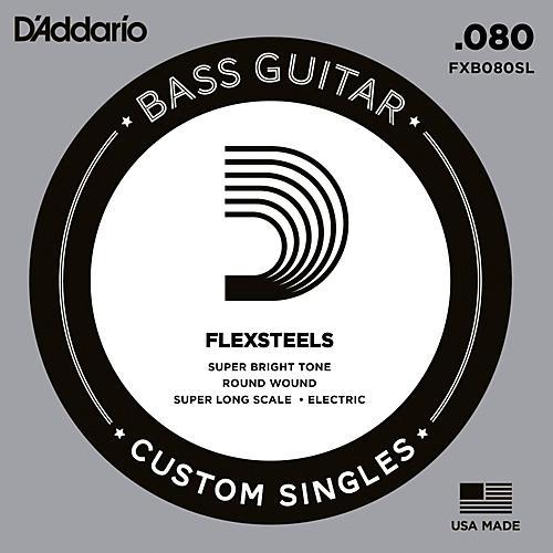 D'Addario FlexSteels Super Long Scale Bass Guitar Single String (.080)