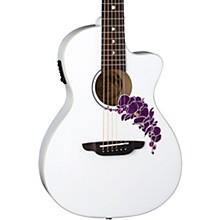 Luna Guitars Flora Orchid Select Spruce Parlor Acoustic-Electric Guitar
