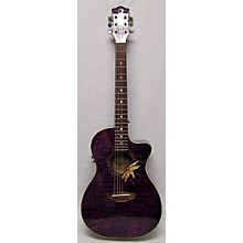 Luna Guitars Flora Passion Flower Acoustic Electric Guitar