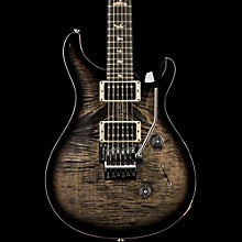 Floyd Custom 24 Carved Flame Maple Top with Nickel Hardware Solid Body Electric Guitar Charcoal Burst