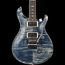 Floyd Custom 24 Carved Flame Maple Top with Nickel Hardware Solid Body Electric Guitar Faded Whale Blue