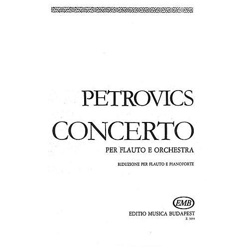 Editio Musica Budapest Flute Concerto EMB Series by Emil Petrovics