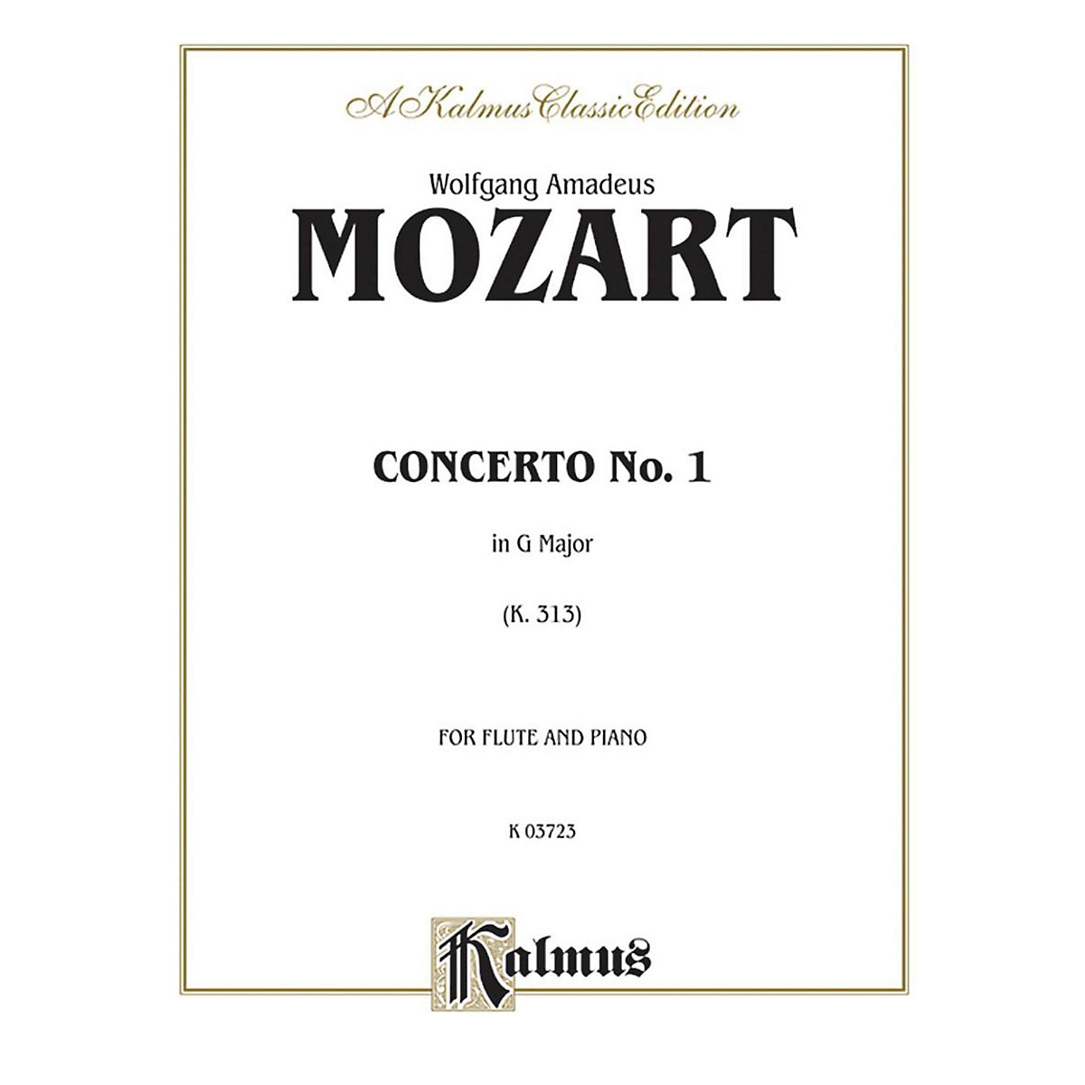 Alfred Flute Concerto No. 1 K. 313 (G Major) for Flute By Wolfgang Amadeus Mozart  Book