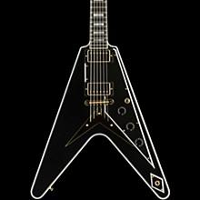 Gibson Custom Flying V Custom - Solid Body Electric Guitar Ebony 5-ply Black Pickguard