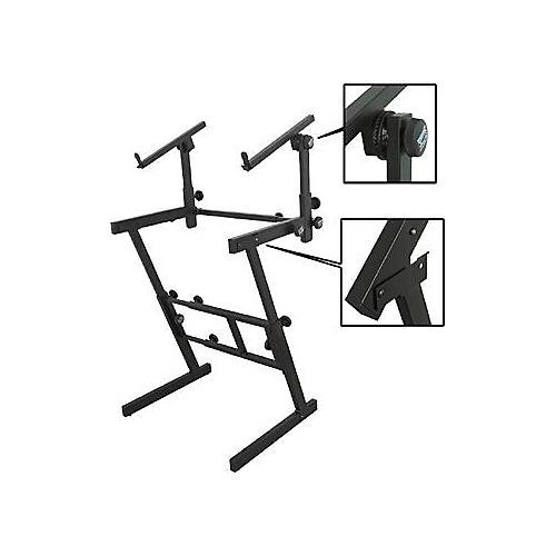 On-Stage Folding Heavy-Duty Dual-Tier Z Stand
