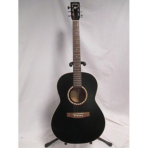 Art & Lutherie Folk Cedar Black Q1 Acoustic Electric Guitar