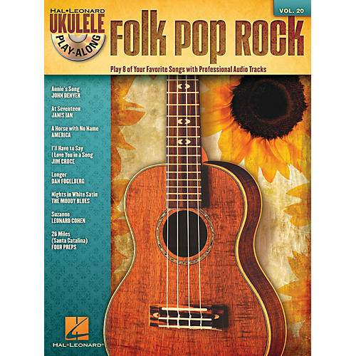Hal Leonard Folk Pop Rock (Ukulele Play-Along Volume 20) Ukulele Play-Along Series Softcover with CD