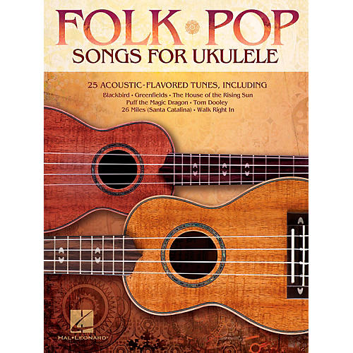 Hal Leonard Folk Pop Songs For Ukulele