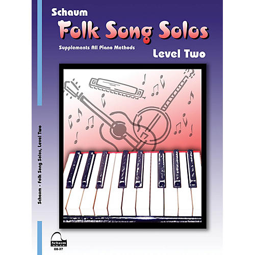 SCHAUM Folk Song Solos (Level 2) Educational Piano Book (Level Late Elem)