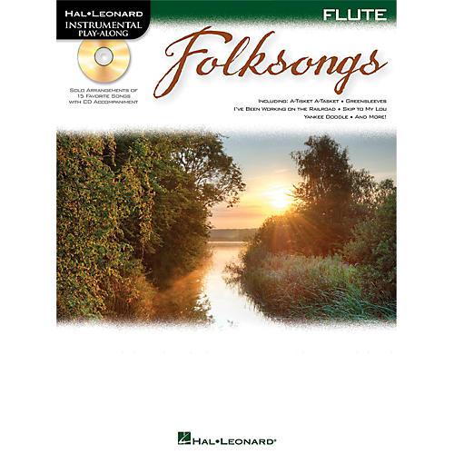 Hal Leonard Folk Songs For Flute  Instrumental Play-Along Book/CD