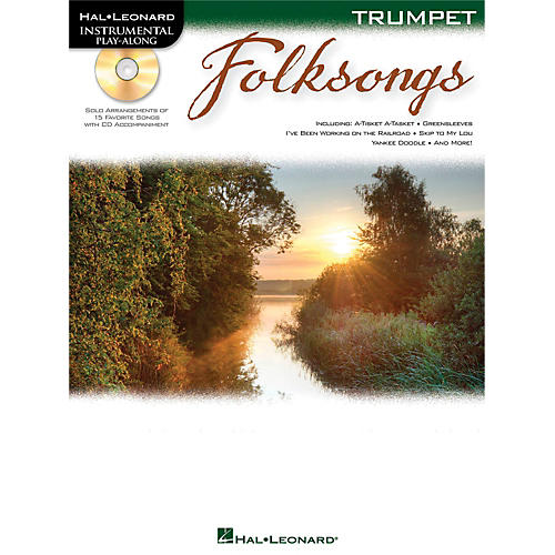Hal Leonard Folk Songs For Trumpet  Instrumental Play-Along Book/CD