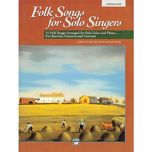 Alfred Folk Songs for Solo Singers Vol. 1 Book (Medium Low)