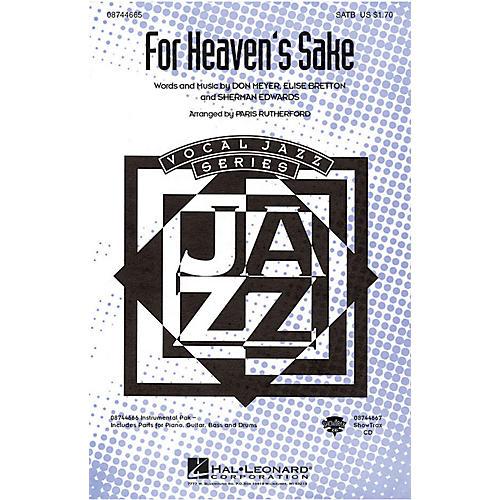 Hal Leonard For Heaven's Sake SATB arranged by Paris Rutherford
