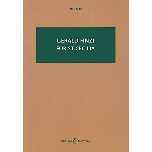 Boosey and Hawkes For St Cecilia, Op. 30 Boosey & Hawkes Scores/Books Series Softcover Composed by Gerald Finzi
