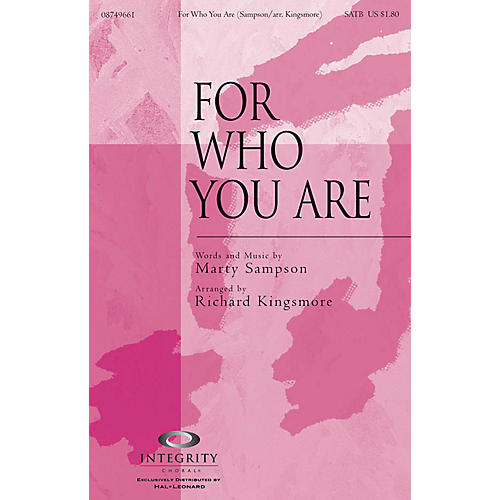 Integrity Choral For Who You Are CD ACCOMP Arranged by Richard Kingsmore